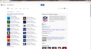 Bing NFL Predictions